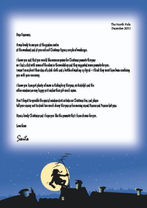 sample letter from santafather christmas for adults click to enlarge - Father Christmas Letters